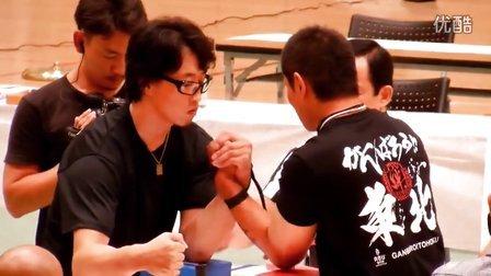 2012JAWA全日本掰手腕比赛男子決勝L 75 - 于鹏懿左手被强敌秒杀