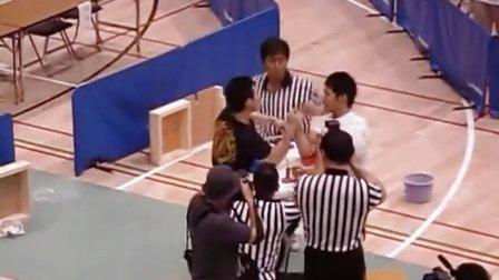 10第28回全日本掰手腕比赛男子右-65決勝 - YouTube