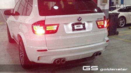 BMW X5 35 安装eisenmann BMW X5m  四出排气