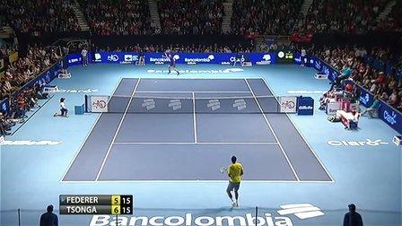 2012哥伦比亚表演赛 费德勒vs特松加