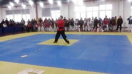 大众跆拳道开幕式双节棍表演
