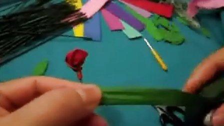 采彩手工DIY彩塑棉玫瑰花制作图片步骤做法教学2