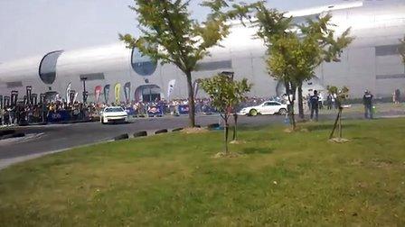 2012 CAS 上海改装车展 双车漂移表演 现场1