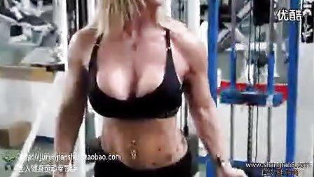 性感的健身小姐训练视频