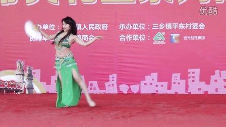 中山肚皮舞专业培训基地JENNY老师三乡美食节表演扇子肚皮舞