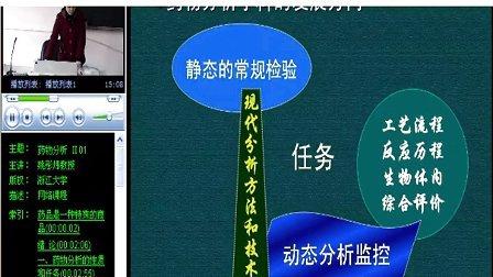 浙江大学 药物分析 40讲 全套Q896730850 视频下载