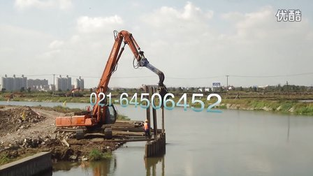 上海枫泾河道整治工程-拉森钢板桩施工案例