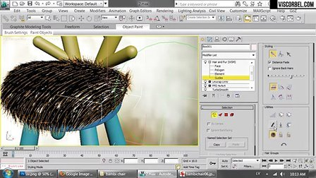 Making the Bambi chair in 3ds max-2