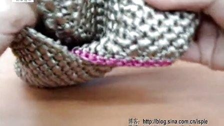 第50集 大牌感拼色时尚小手包 许红霞棉草拉菲钩编教学视频
