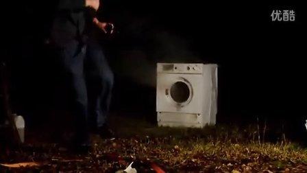 往滚筒洗衣机里放烟花会怎么样