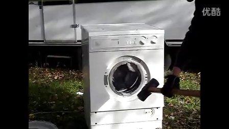 往滚筒洗衣机里扔砖头会怎么样