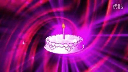 蛋糕单支蜡烛星光婚礼儿童卡通生日LED视频素材
