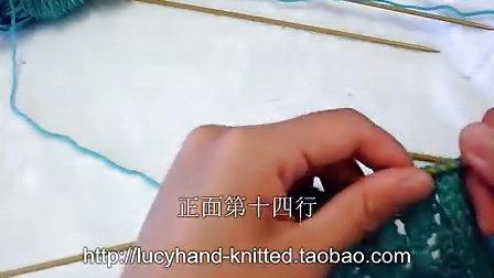 草席花围巾的织法,编织镂空花,花样视频,教学方法