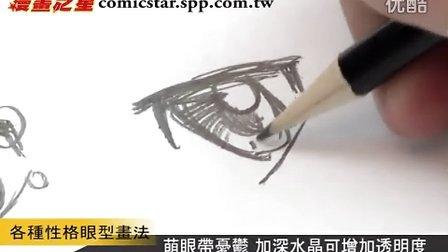 漫畫教學—各種性格眼型畫法
