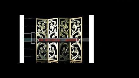 3D模型屏风玄关隔断中式 欧式 镂空 客厅 雕花 折叠