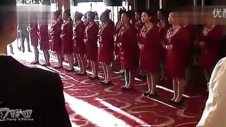 丹东阿里郎酒店女员工洗脑式汇演!搞笑雷人