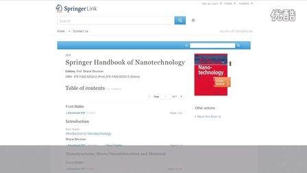 eBooks on New SpringerLink