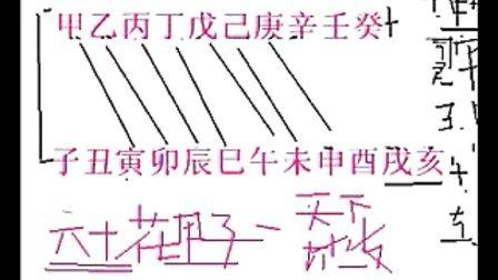 四柱八字基础5六十花甲子-【易道】释易课程视频