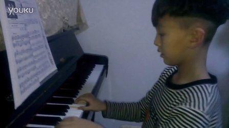 洪韬壹,2013.1.28晚,钢琴练习『遥远的钟声』