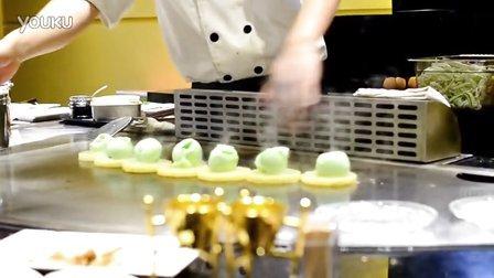 月影铁板烧#火焰菠萝冰淇淋#