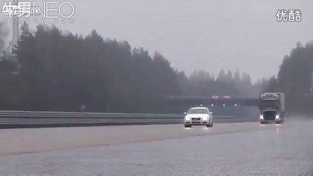 【牛男独家】测试沃尔沃卡车在高速行驶下紧急制动