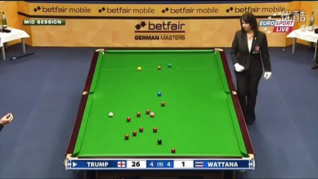 2013 German Masters QR Trump(106) vs Wattana F9