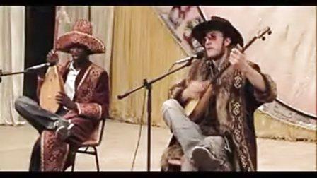 爆笑! 非洲黑人阿肯VS英国阿肯Aytes aytis aites aitys世界阿肯弹唱会!