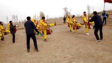 张掖市甘州区沙井镇下利沟村太平鼓表演