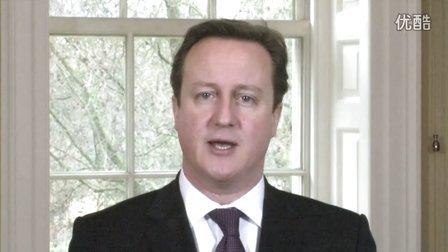 英国首相卡梅伦发表2013中国蛇年新春贺词