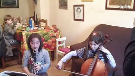 Clarinet and Cello Video with my Spanish Friend Daughter