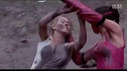 Mileena fights Sonya In Mortal Kombat女女泥浆格斗