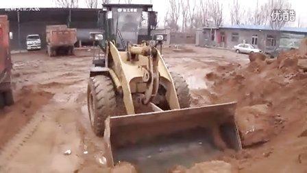 龙口市大成挖掘机培训学校---铲车培训演示