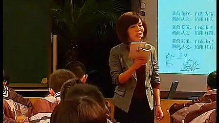 蒹葭葛玉兰 2010年浙江省初中语文课堂教学教学评比教学视频
