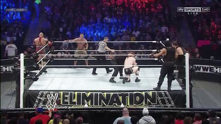WWE.Elimination.Chamber.2013  John Cena&Rrback&sheamus vs The Shield