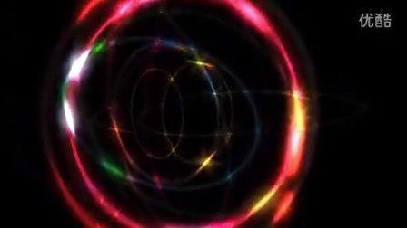 炫彩的光圈视频背景素材
