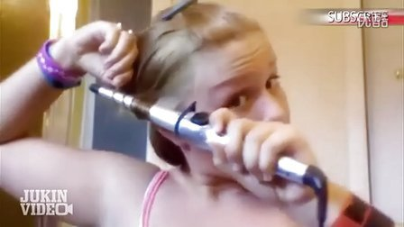 YouTube上目前最火的视频 金发美女告诉你如何在家自己卷发