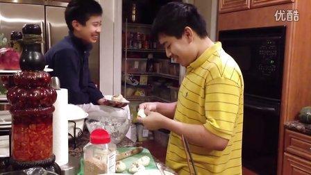 猪学做生煎包