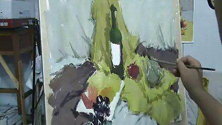 【天津原创画室】美术教学视频-水粉静物-水粉画教学视频(例1)