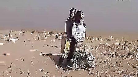 晶晶在康西草原骑羊