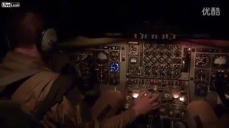 非洲马里法国空军夜间的空中加油