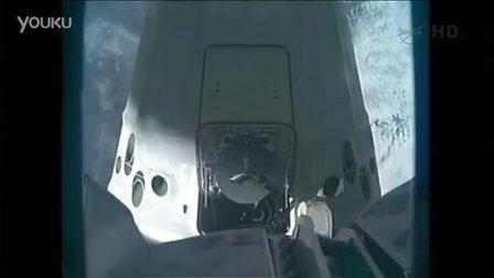 """无人宇宙""""龙飞船"""",与国际空间站的成功对接-"""