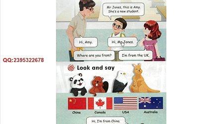 PEP人教小学英语三年级下册点读视频、点读卡视频、点读英语视频