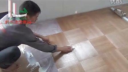 科巢集装箱式活动板房安装视频第8步铺地板胶