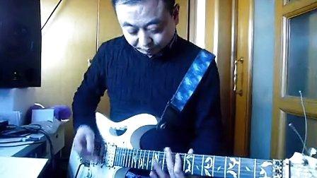 吉他教学电吉他重金属打底教学示范