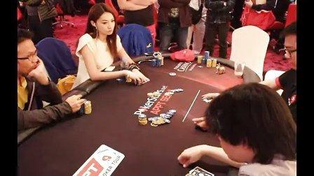 2013年APPT首尔站:德州扑克美女牌手李思晓比赛视频
