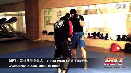 MFT心武格斗健身训练-5分钟接引靶训练