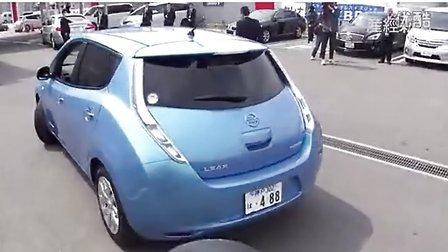 2013.3.23日,大阪 日产最新电动汽车(EV)LEAF