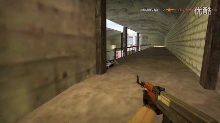 [CS1.6] aHem vs Tornado ak 1v5 de_train