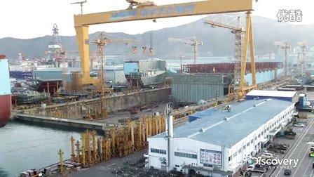 【一起动画吧】76秒看世界上最大的船是怎样的造成的!