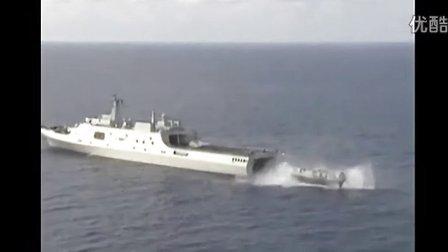 中国海军舰队编队深入南中国海巡航